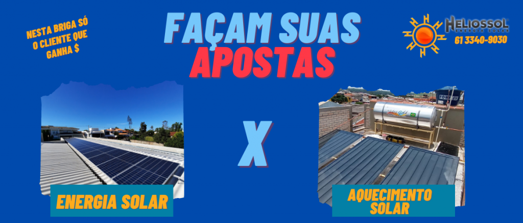 Energia solar x Aquecimento Solar